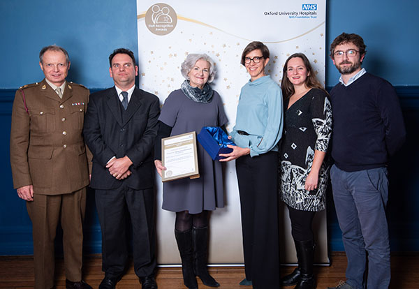 The SCAN Pathway Team receives their award