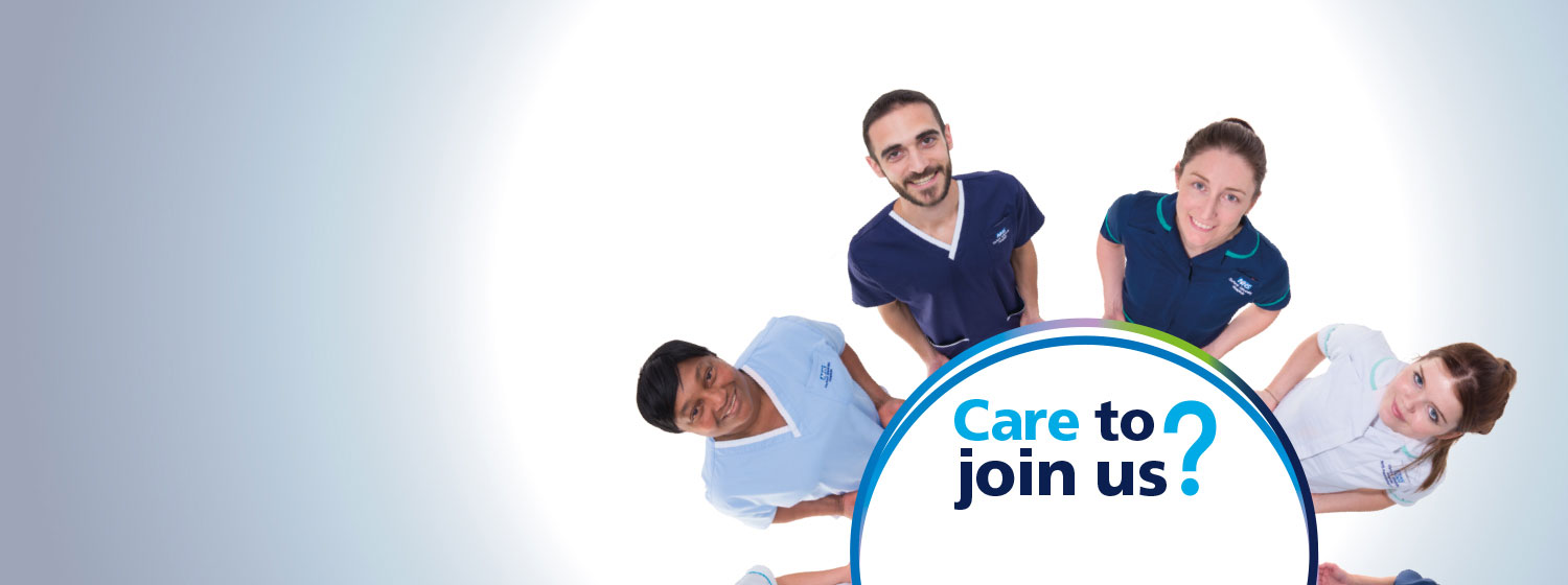Care to join us? Nursing careers