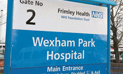 Sign outside Wexham Park Hospital