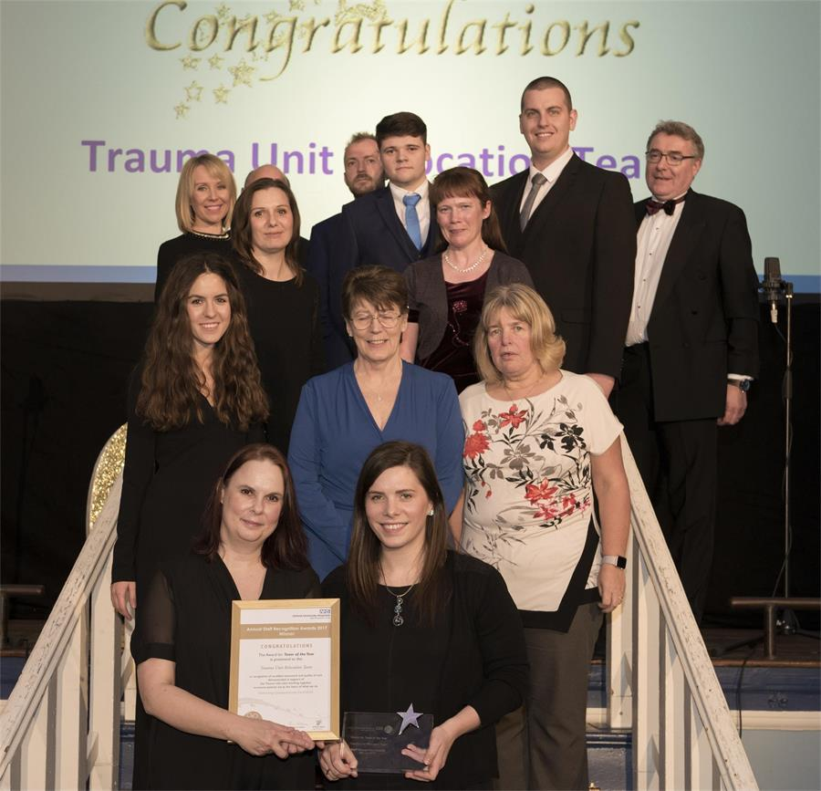 Award for Team of the Year - Winner: Trauma Unit Relocation Team