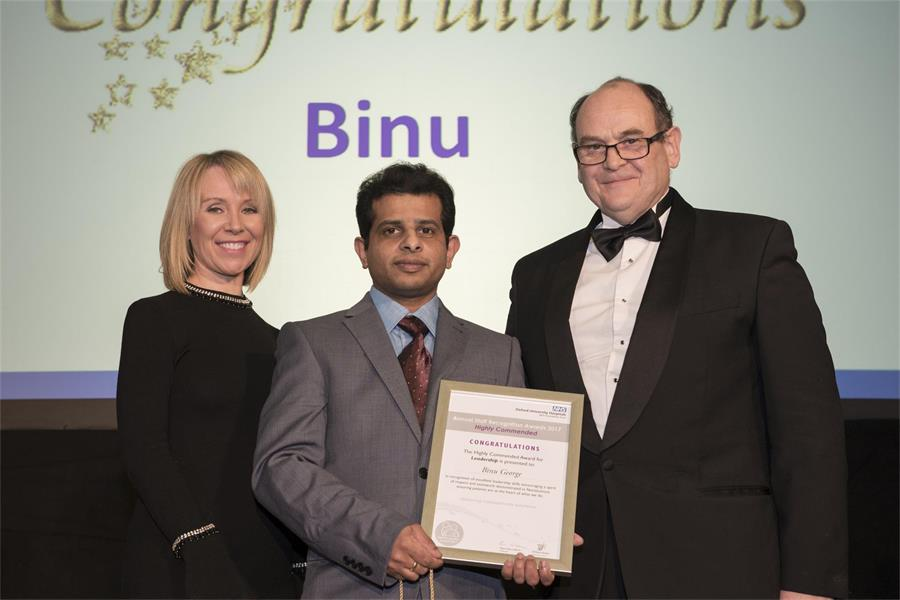 Award for Leadership - Highly Commended: Binu George