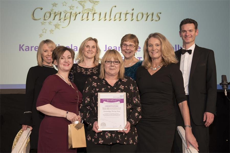 Patients' Choice Award - Highly Commended: Immunology Nursing Team
