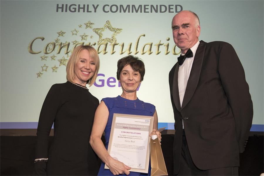 Award for Quality Improvement - Highly Commended: Gerry Reed