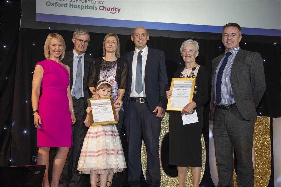 Oxford Hospitals Charity Supporter of the Year - Finalists the Drysdale Family and Jackie Wade (Volunteer)
