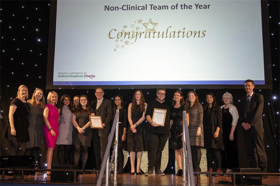 Non-clinical Team of the Year - Finalists Histology Team and NOTSS & Children's Services