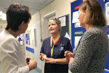 Health Minister Jo Churchill welcomed to the Horton