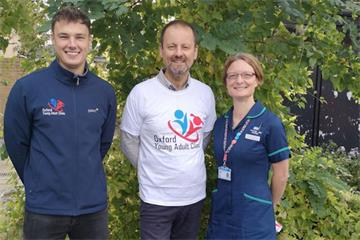 Trio runs Oxford Half Marathon to raise funds for Young Adult Clinic