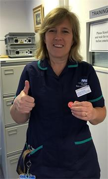 Our thanks go to flu vaccinator Jayne Woodhouse