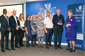 'Beacon of excellence' psychological team wins prestigious national award