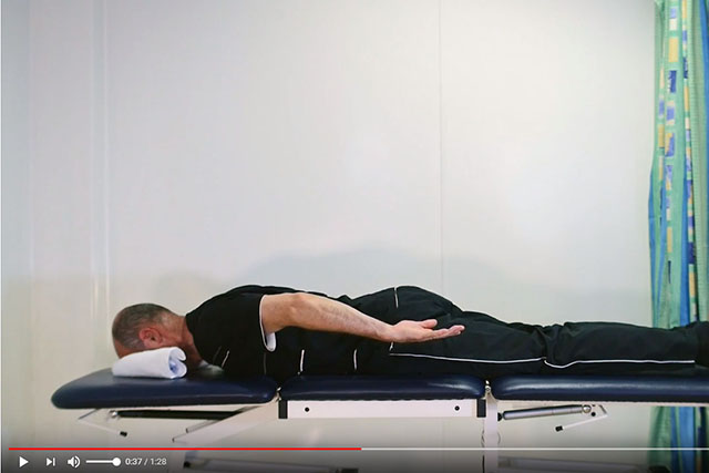 Shoulder blade and rotator cuff exercise lying down 2 video