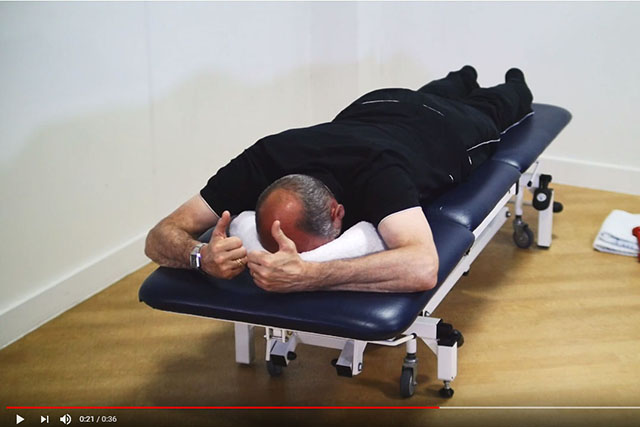 Shoulder blade and rotator cuff exercise lying down 3 video