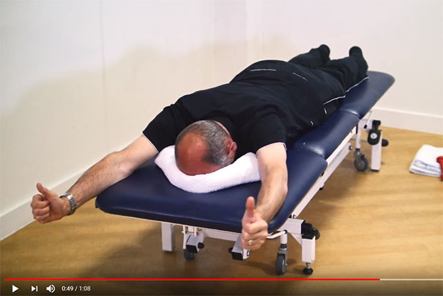 Shoulder blade and rotator cuff exercise lying down 5 video