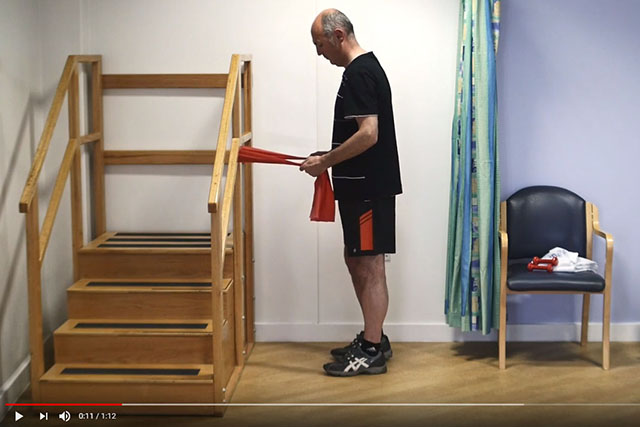Shoulder blade and rotator cuff exercise in standing 1 video