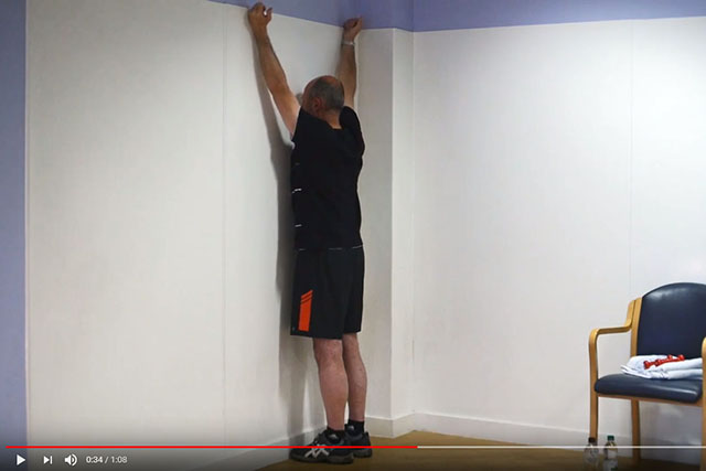 Shoulder blade and rotator cuff exercise in standing 2 video