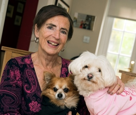 Photo of Margaret Messham and her beloved dogs